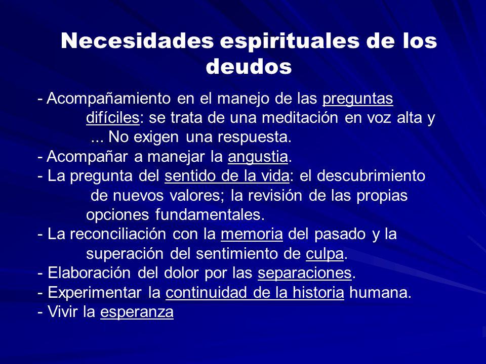 Necesidades espirituales de los deudos