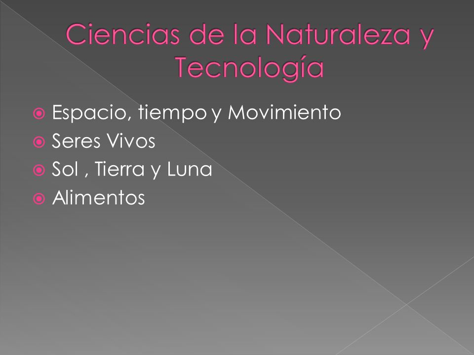 Ciencias de la Naturaleza y Tecnología