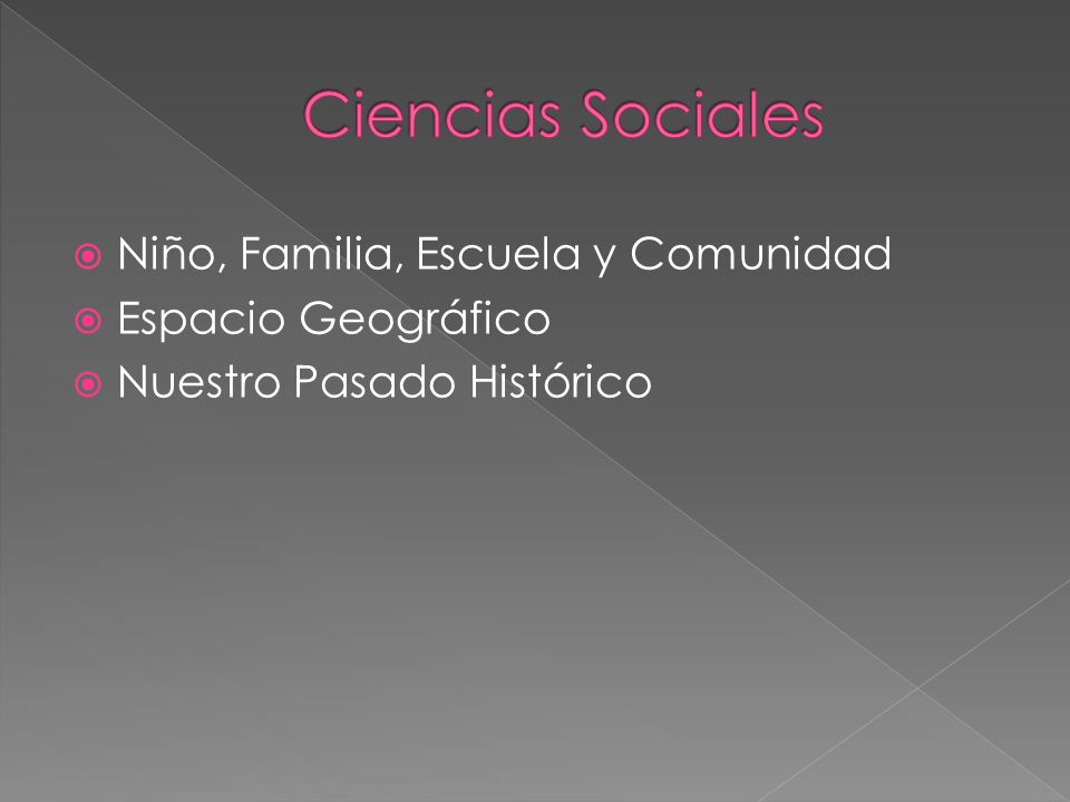 Ciencias Sociales Niño, Familia, Escuela y Comunidad