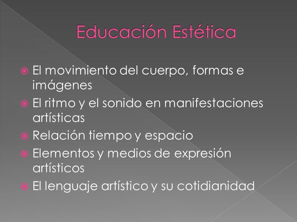 Educación Estética El movimiento del cuerpo, formas e imágenes
