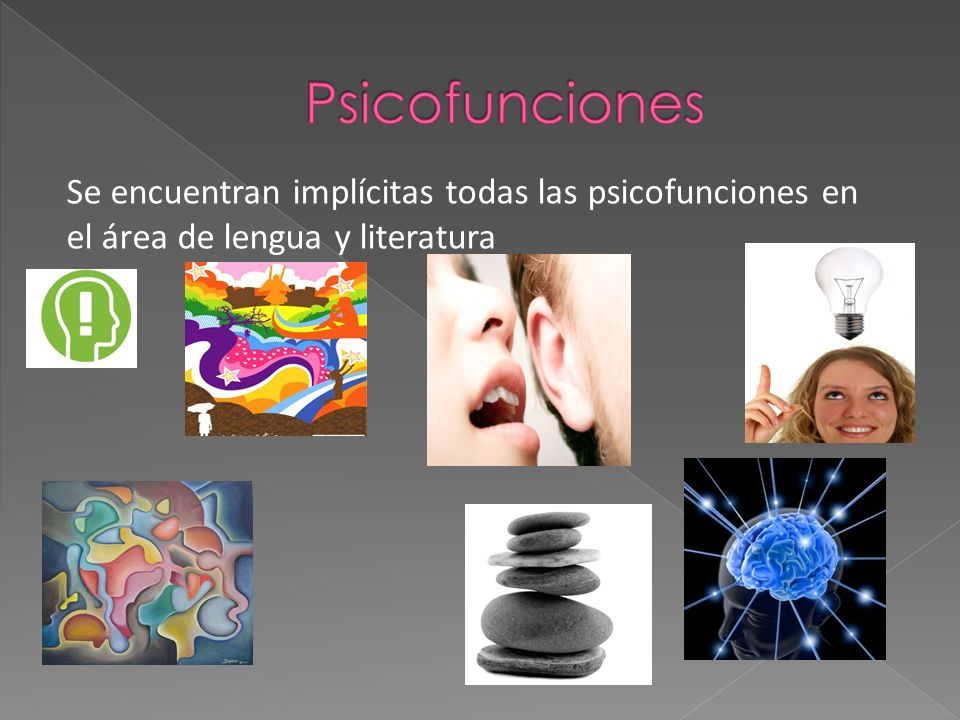 Psicofunciones Se encuentran implícitas todas las psicofunciones en el área de lengua y literatura