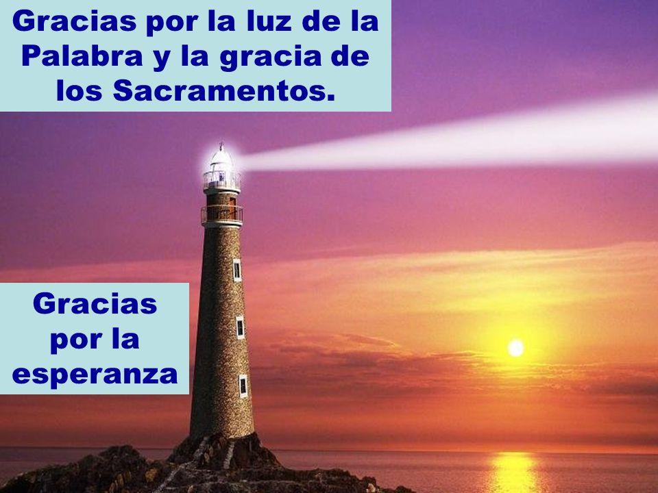 Gracias por la luz de la Palabra y la gracia de los Sacramentos.