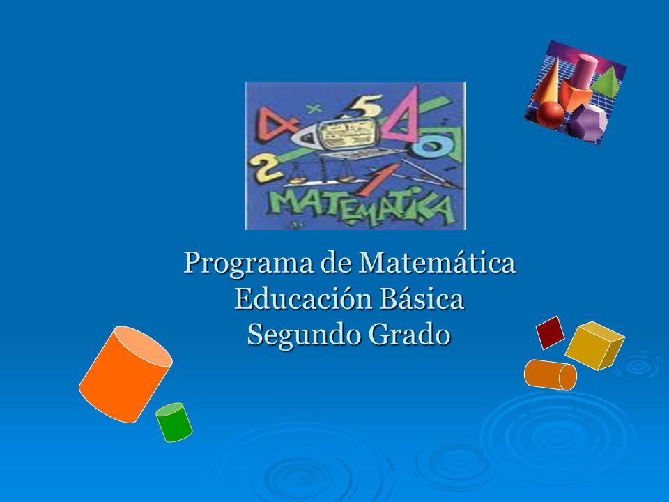 Programa de Matemática Educación Básica Segundo Grado