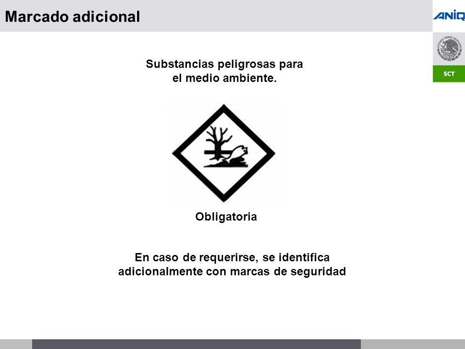 Substancias peligrosas para el medio ambiente.
