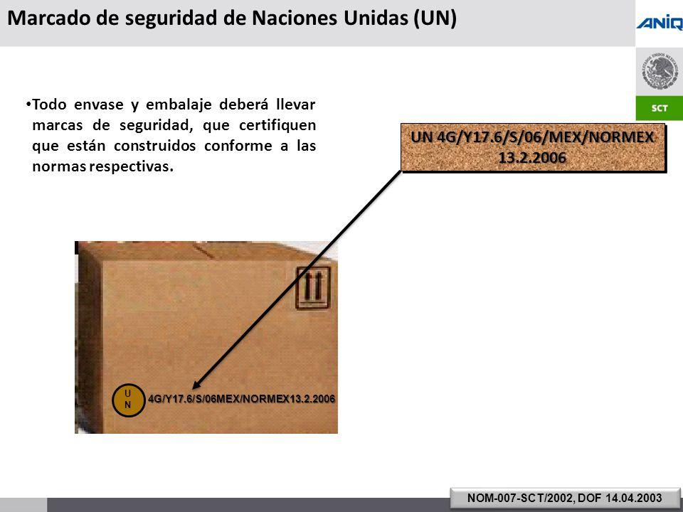 Marcado de seguridad de Naciones Unidas (UN)