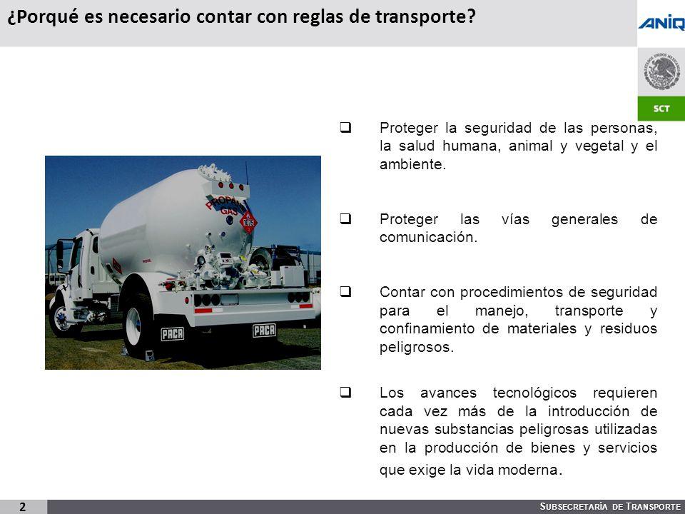 ¿Porqué es necesario contar con reglas de transporte