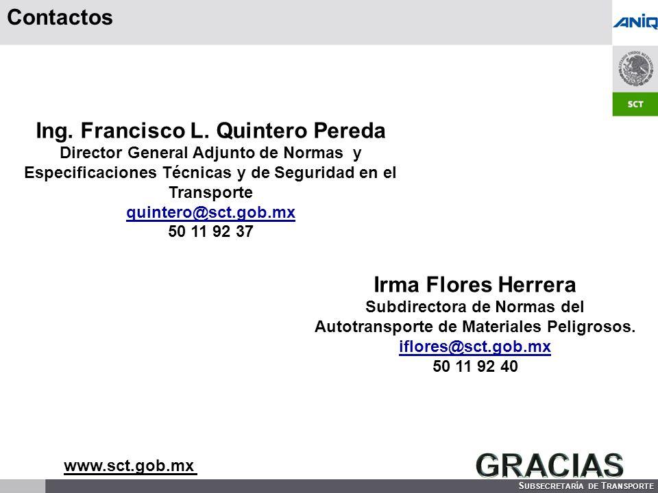 GRACIAS Contactos Ing. Francisco L. Quintero Pereda