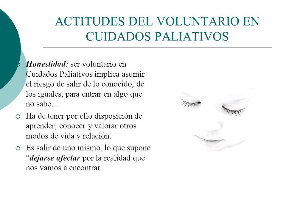 ACTITUDES DEL VOLUNTARIO EN CUIDADOS PALIATIVOS