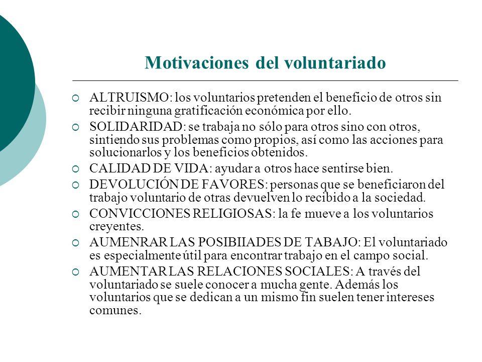 Motivaciones del voluntariado
