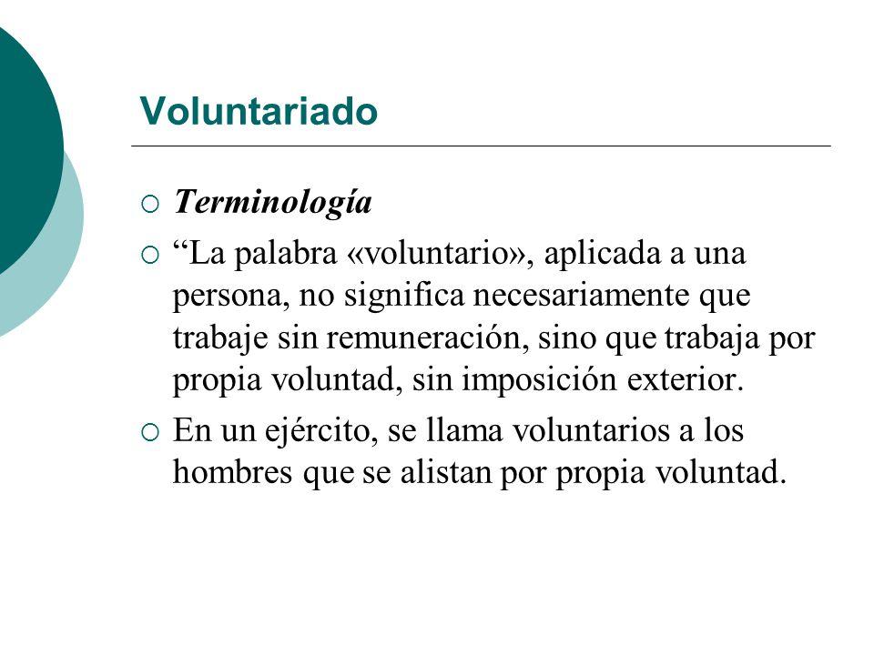Voluntariado Terminología