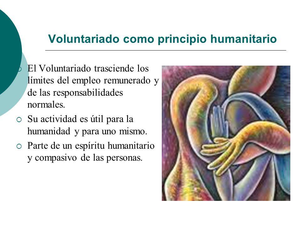 Voluntariado como principio humanitario