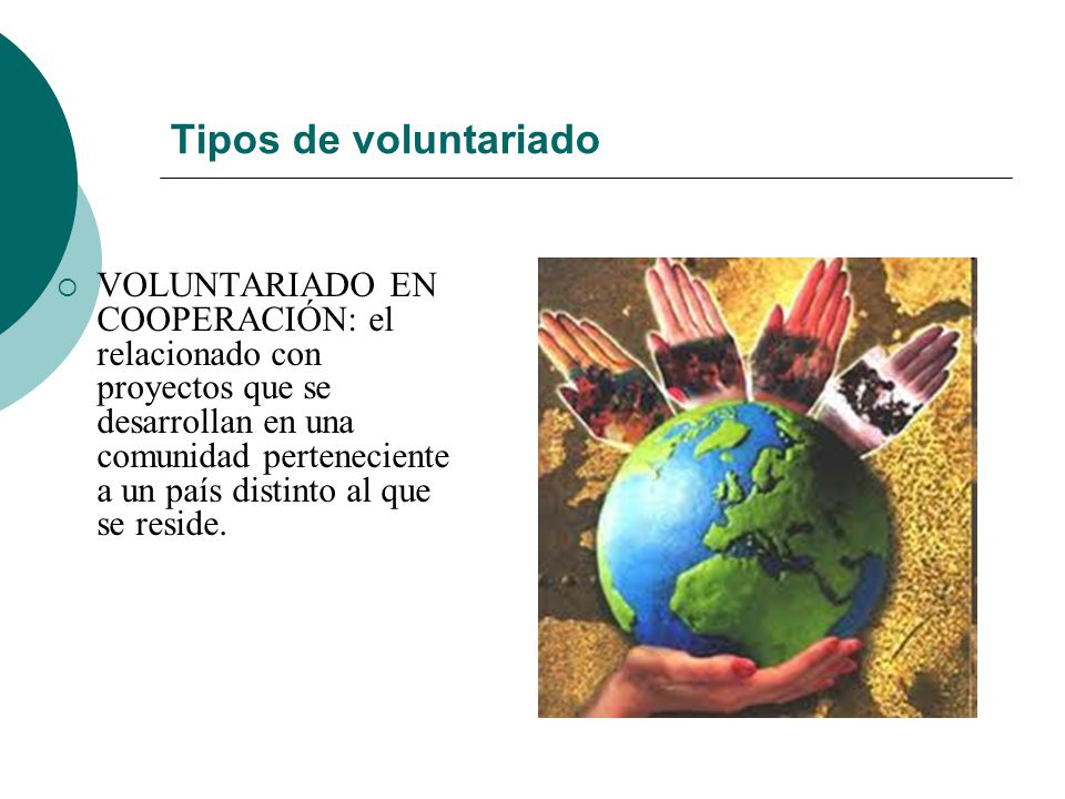 Tipos de voluntariado