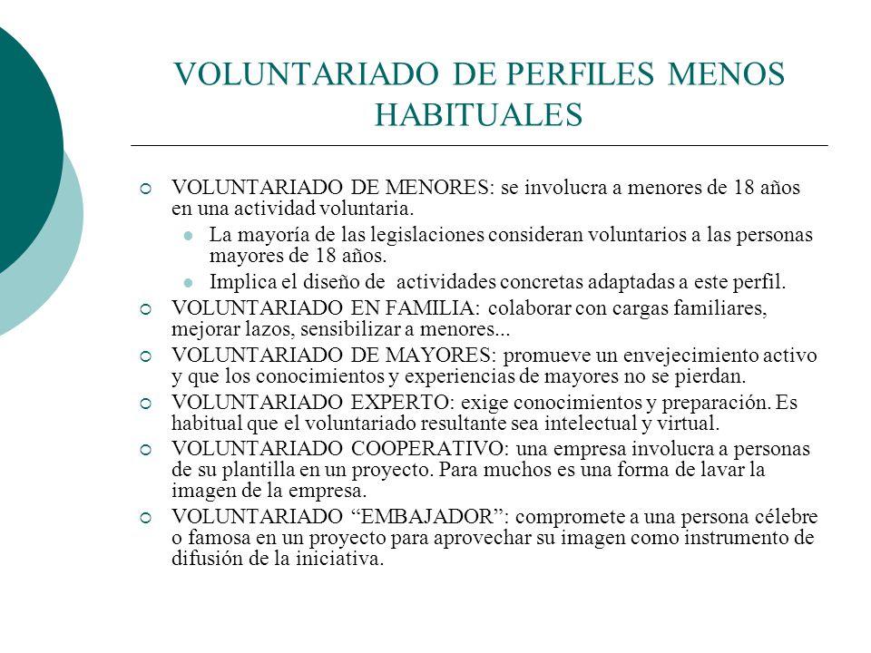 VOLUNTARIADO DE PERFILES MENOS HABITUALES