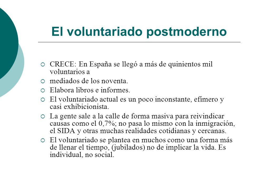 El voluntariado postmoderno