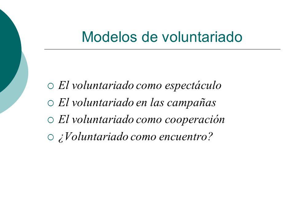 Modelos de voluntariado