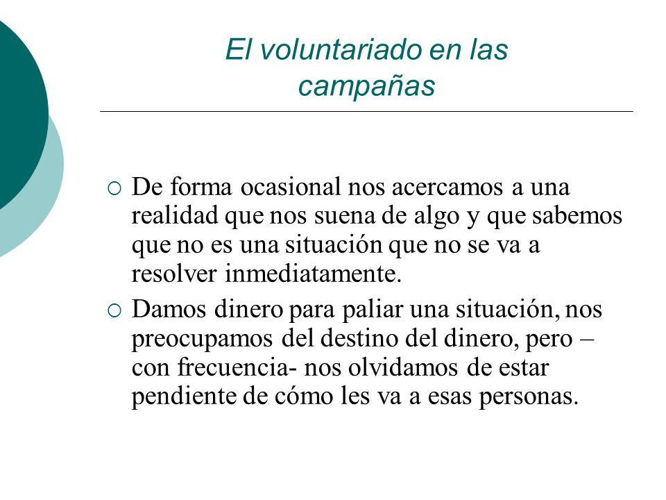 El voluntariado en las campañas