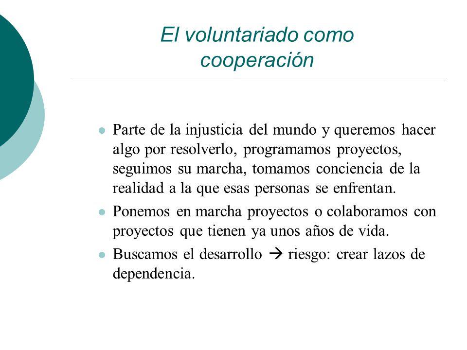 El voluntariado como cooperación