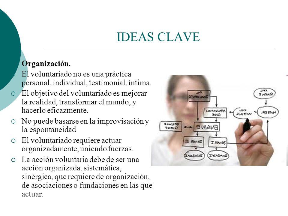 IDEAS CLAVE Organización.