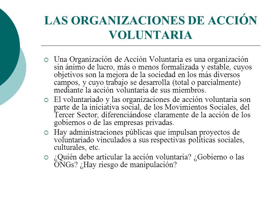 LAS ORGANIZACIONES DE ACCIÓN VOLUNTARIA
