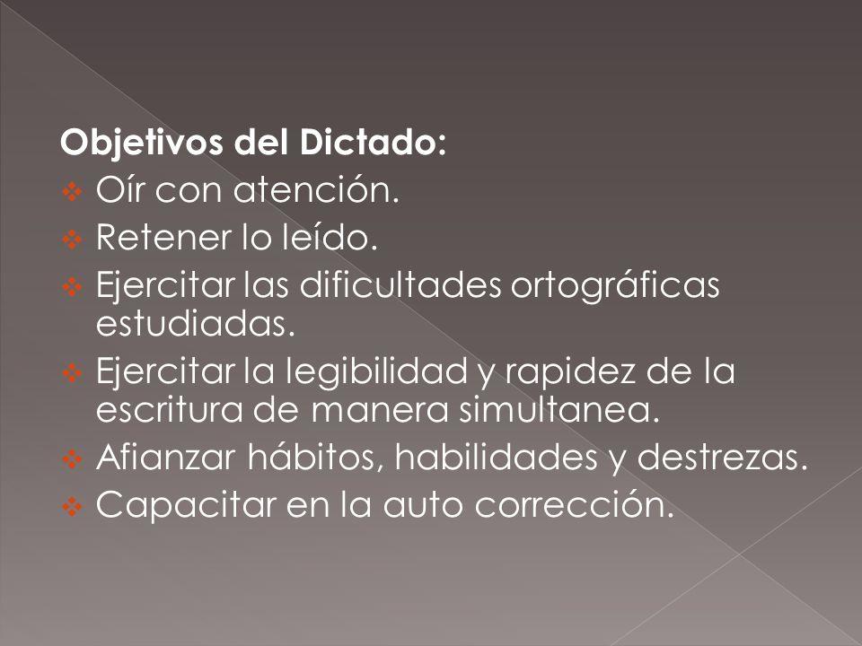 Objetivos del Dictado: