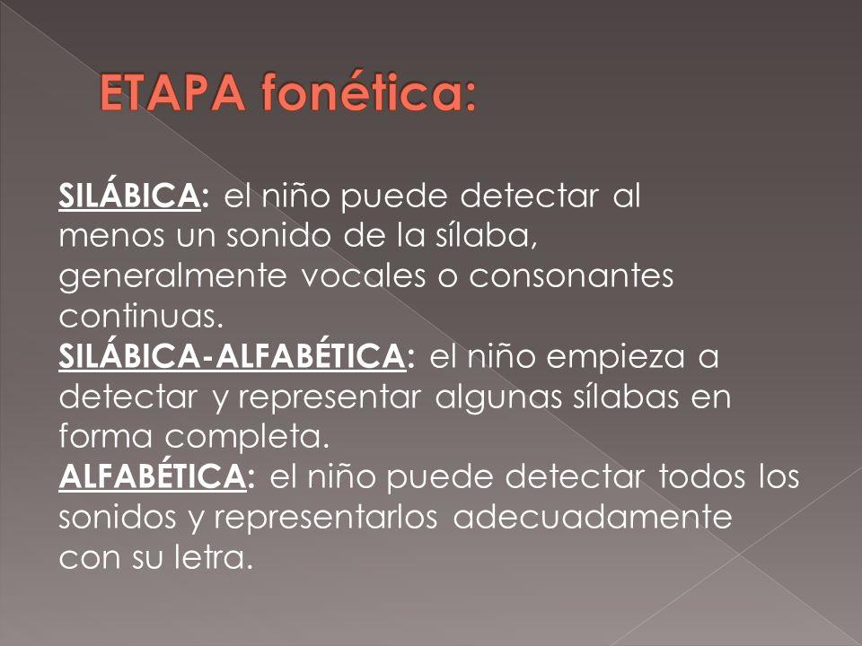ETAPA fonética: