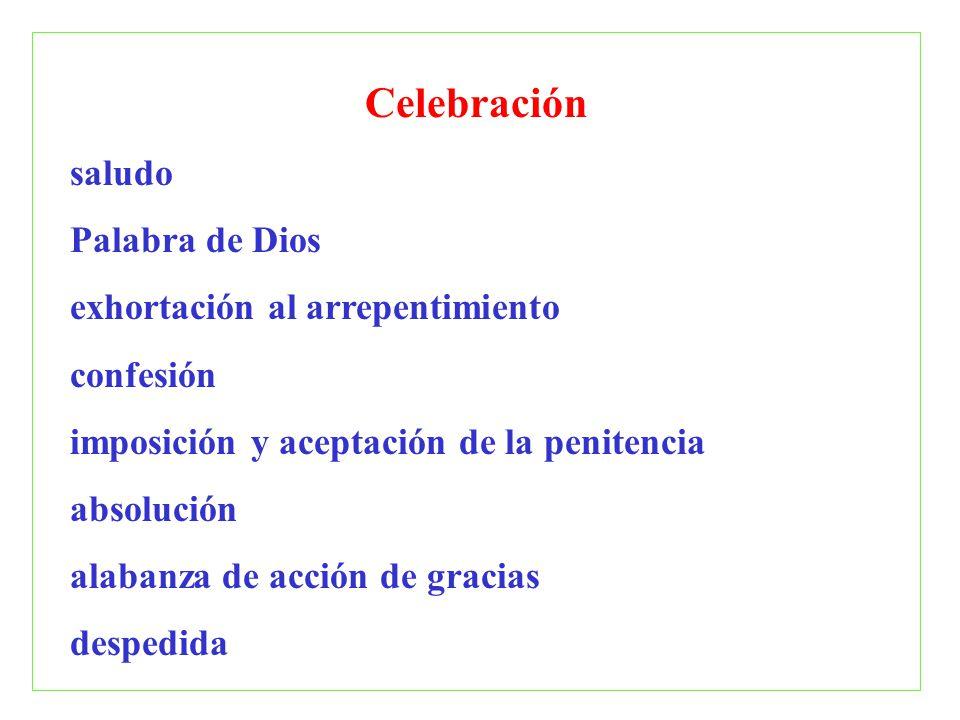 Celebración saludo Palabra de Dios exhortación al arrepentimiento