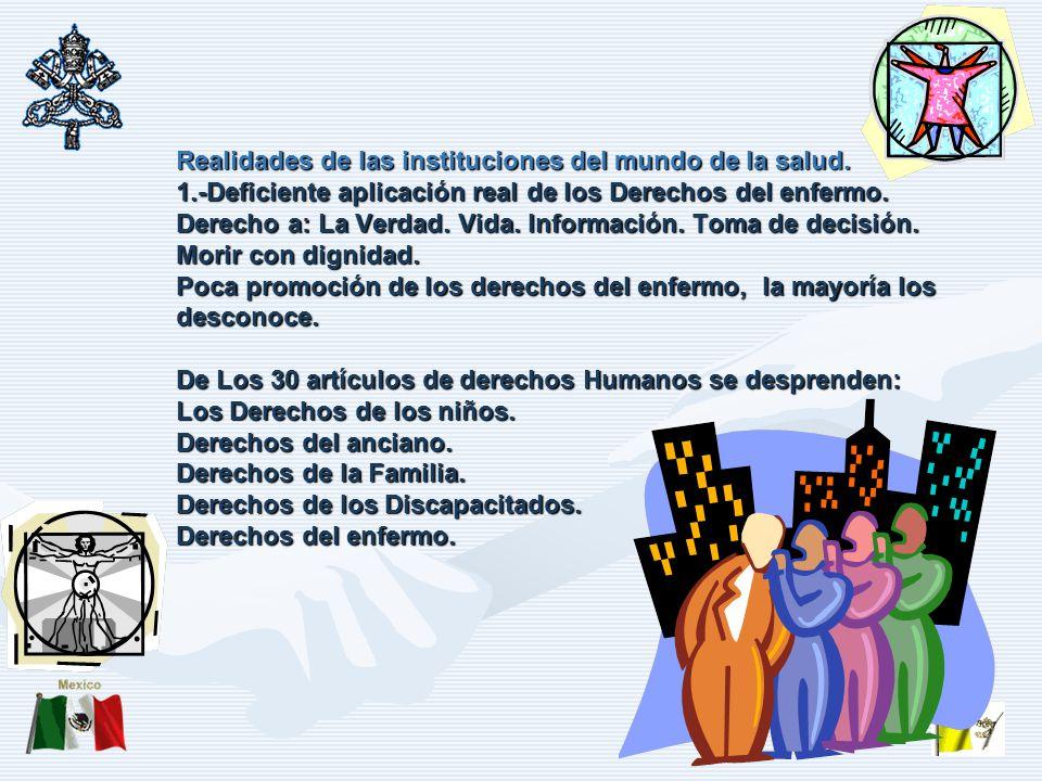 Realidades de las instituciones del mundo de la salud. 1