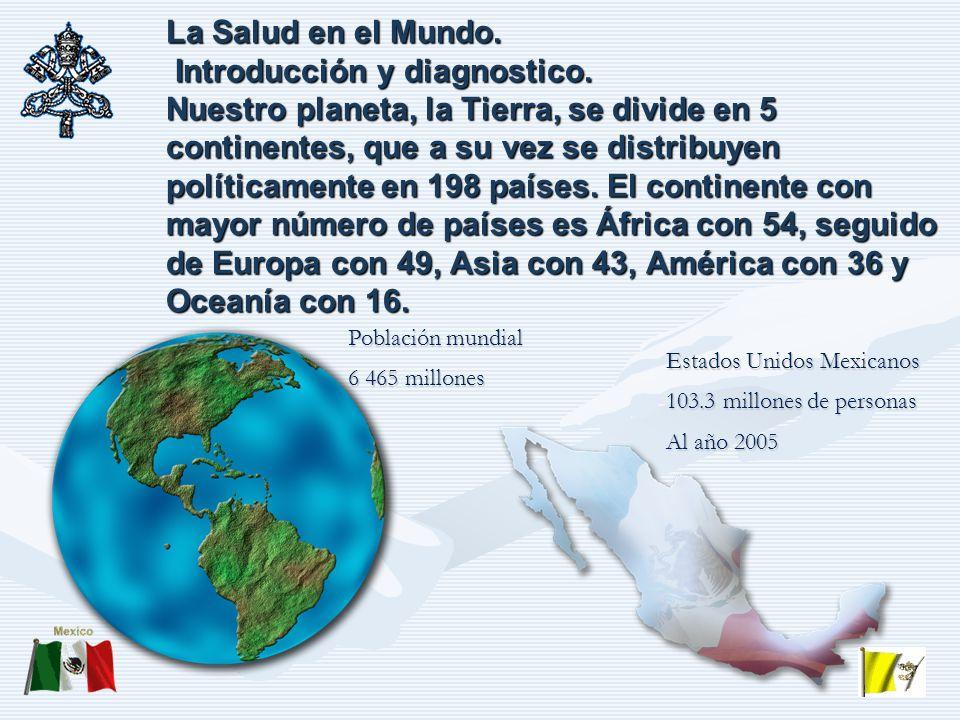 La Salud en el Mundo. Introducción y diagnostico