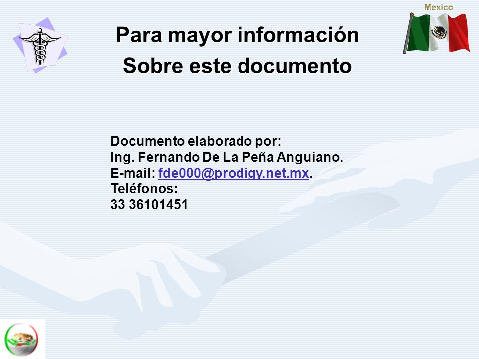 Para mayor información Sobre este documento