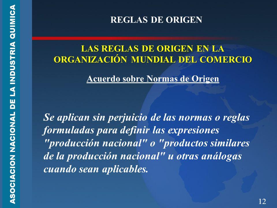 REGLAS DE ORIGEN LAS REGLAS DE ORIGEN EN LA ORGANIZACIÓN MUNDIAL DEL COMERCIO. Acuerdo sobre Normas de Origen.