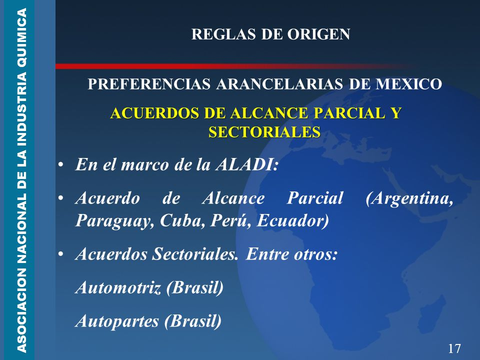 Acuerdo de Alcance Parcial (Argentina, Paraguay, Cuba, Perú, Ecuador)