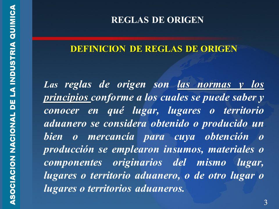 DEFINICION DE REGLAS DE ORIGEN