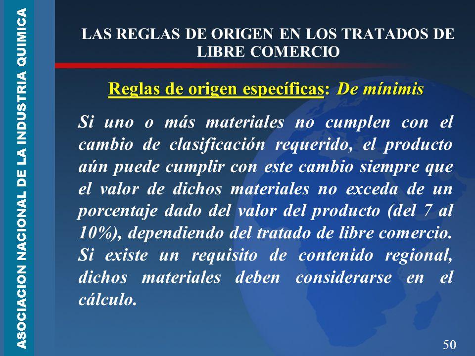 LAS REGLAS DE ORIGEN EN LOS TRATADOS DE LIBRE COMERCIO