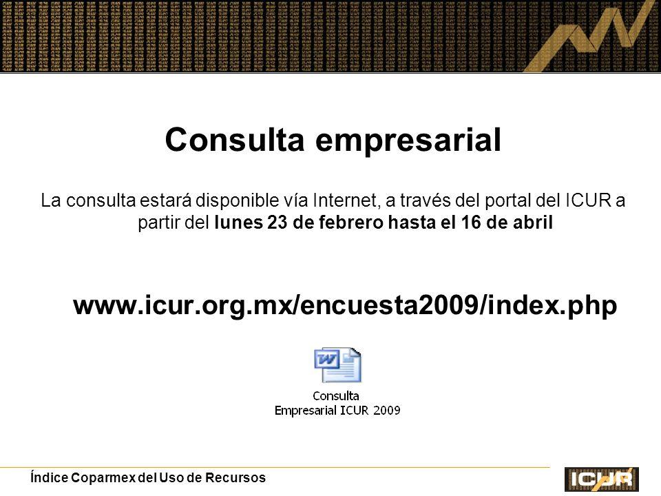 Consulta empresarial www.icur.org.mx/encuesta2009/index.php