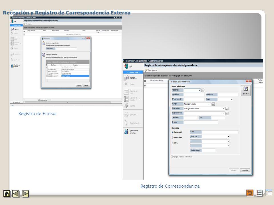 Recepción y Registro de Correspondencia Externa