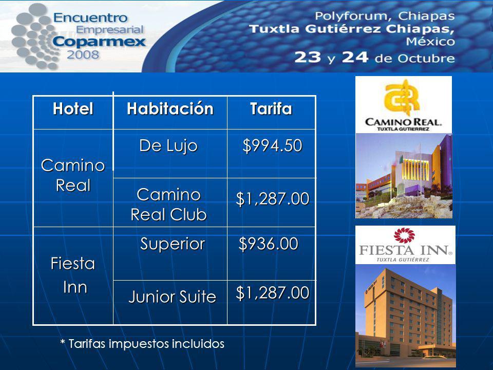 Tarifa Habitación Hotel