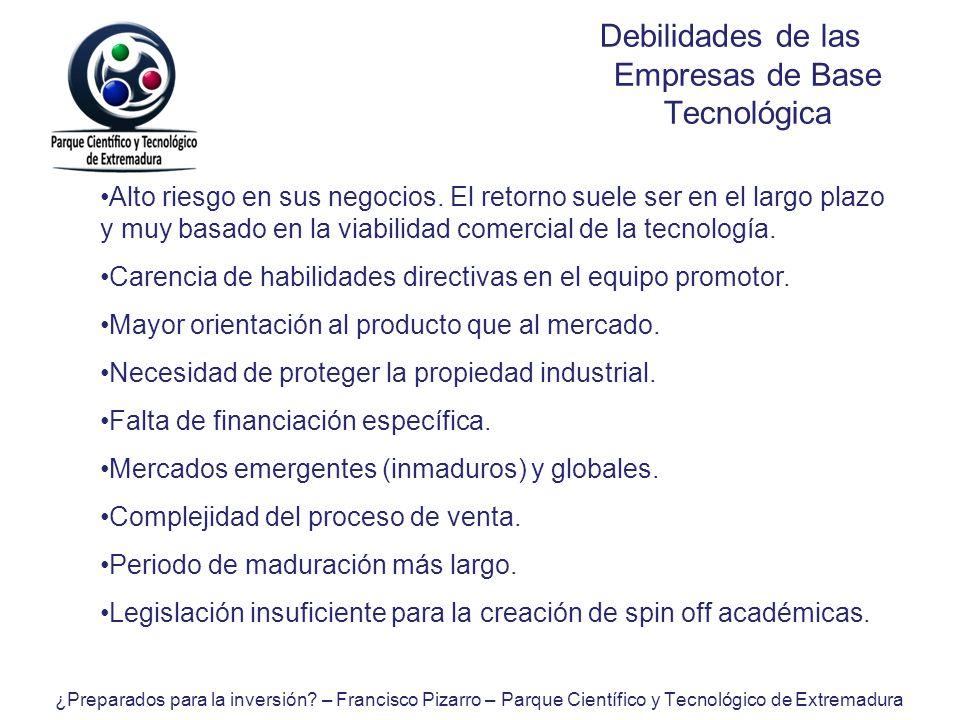 Debilidades de las Empresas de Base Tecnológica
