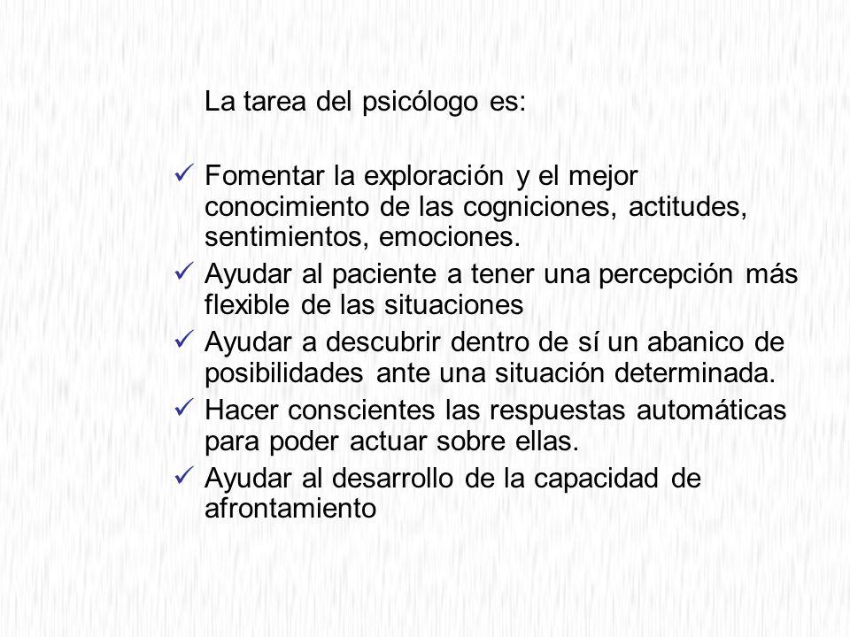La tarea del psicólogo es: