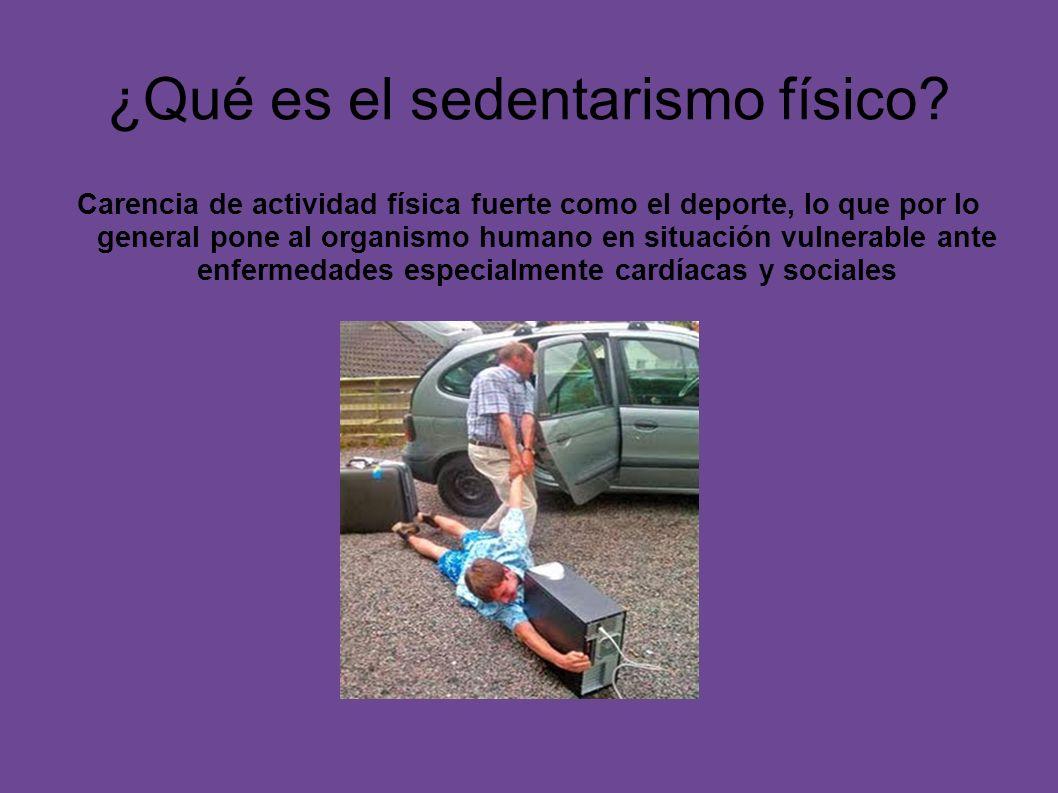 ¿Qué es el sedentarismo físico