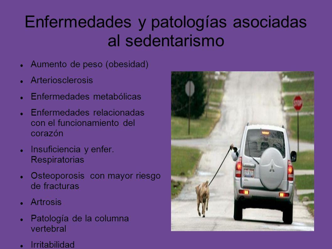 Enfermedades y patologías asociadas al sedentarismo