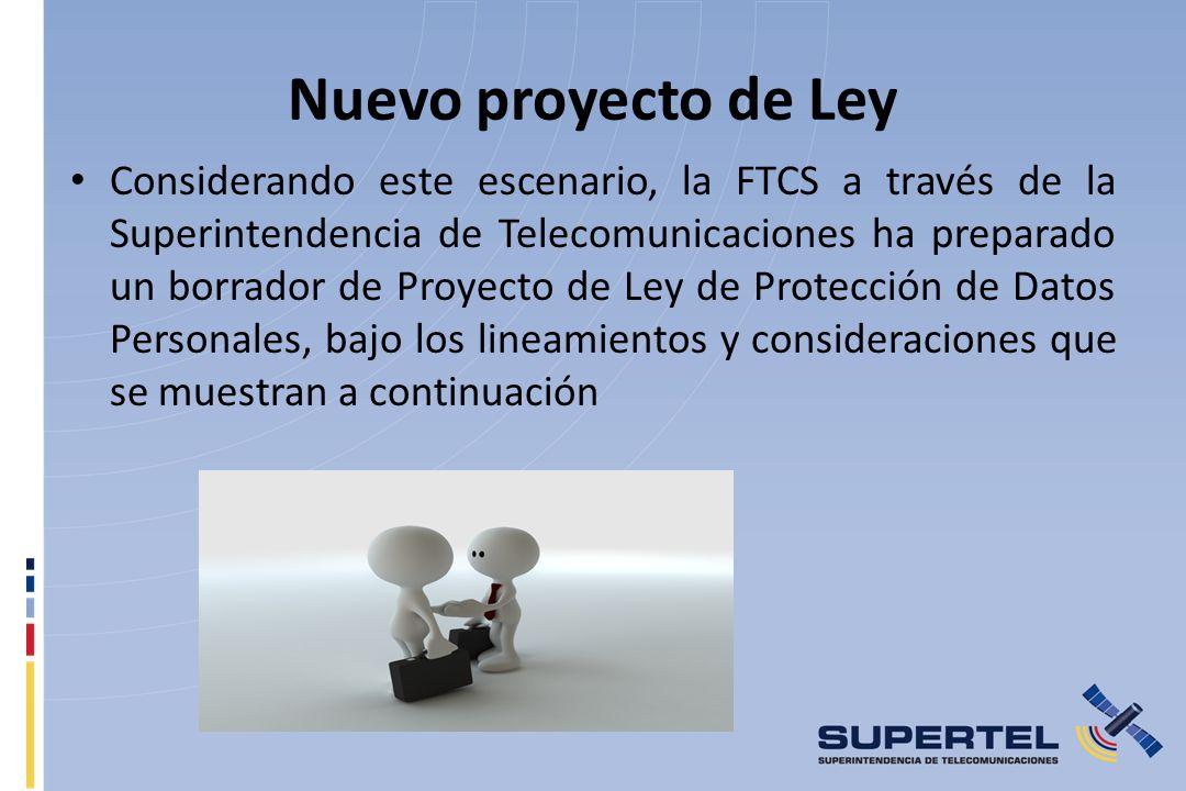 Nuevo proyecto de Ley