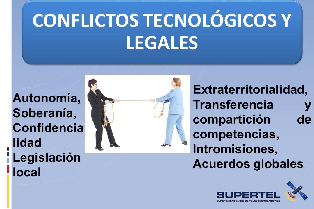 CONFLICTOS TECNOLÓGICOS Y LEGALES