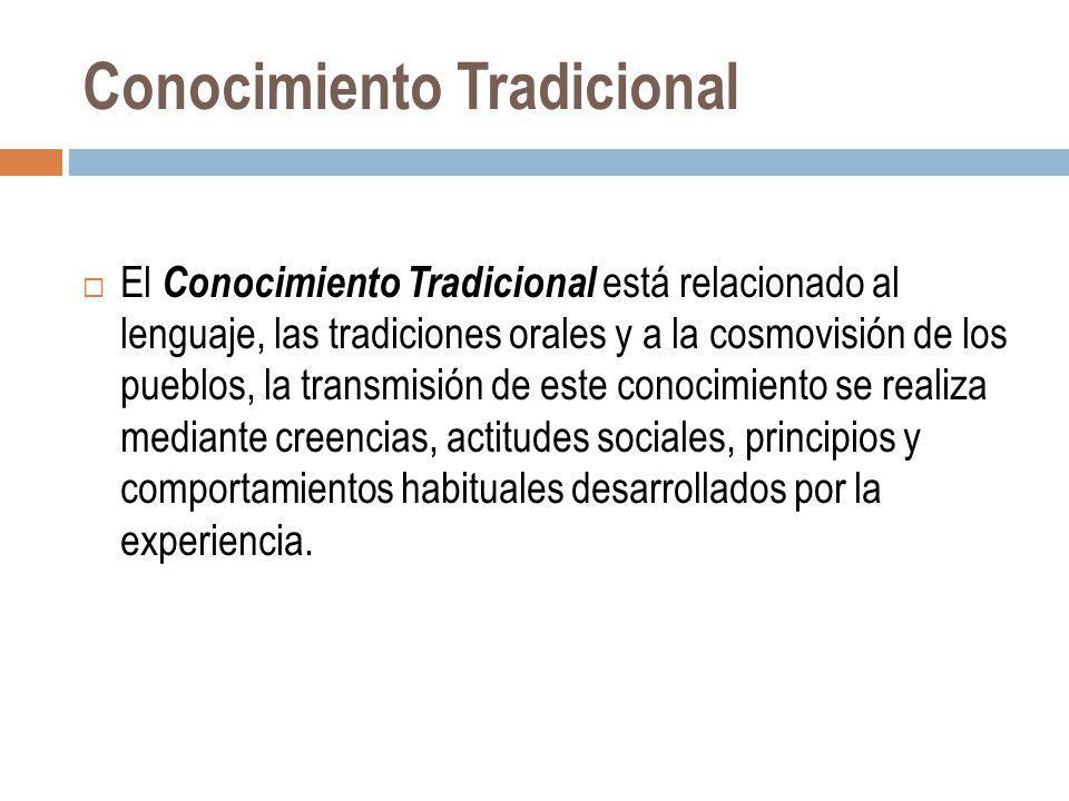 Conocimiento Tradicional