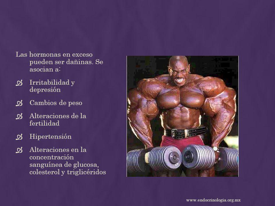 Las hormonas en exceso pueden ser dañinas. Se asocian a: