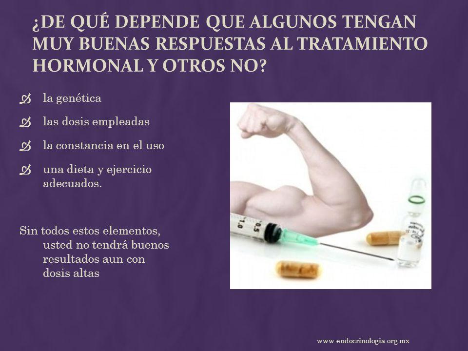 ¿De qué depende que algunos tengan muy buenas respuestas al tratamiento hormonal y otros no