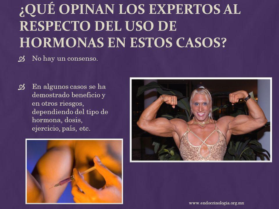 ¿Qué opinan los expertos al respecto del uso de hormonas en estos casos