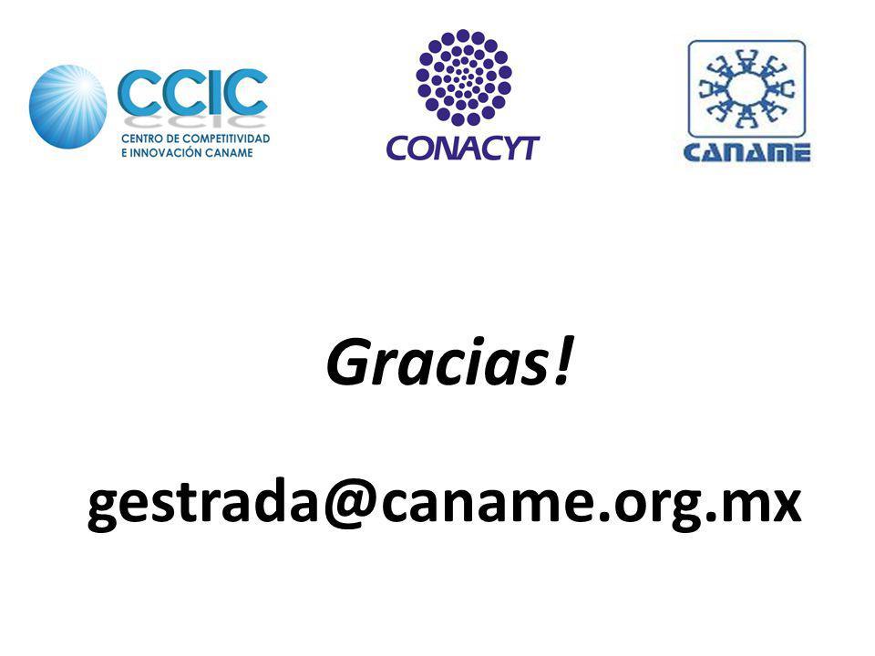 Gracias! gestrada@caname.org.mx