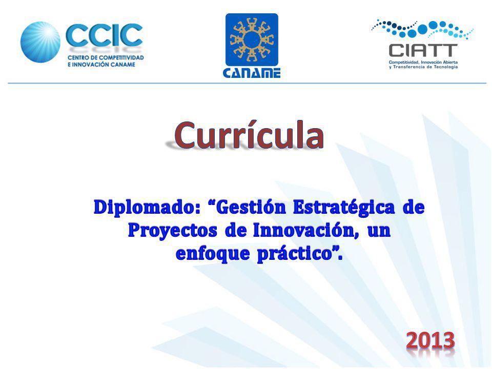 Currícula Diplomado: Gestión Estratégica de Proyectos de Innovación, un enfoque práctico . 2013