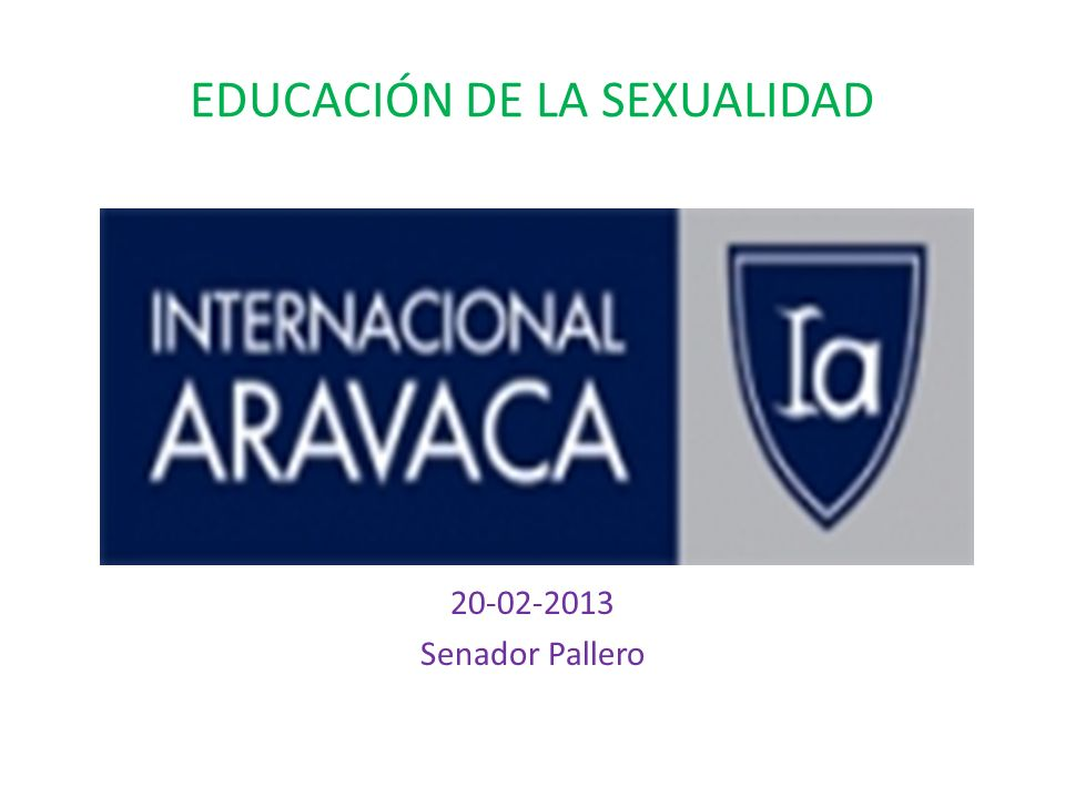 EDUCACIÓN DE LA SEXUALIDAD