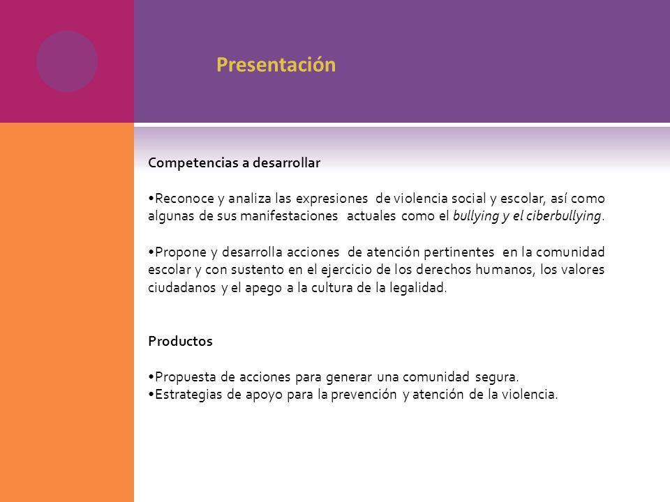 Presentación Competencias a desarrollar